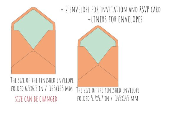 Square Envelopes Graphic Crafts By sadovichdesign