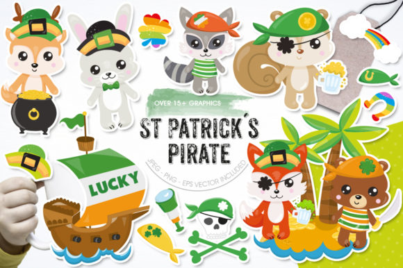 Print on Demand: St. Patrick's Pirate Graphic Illustrations By Prettygrafik