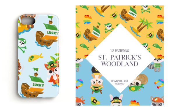 Print on Demand: St. Patrick's Woodland Graphic Patterns By Prettygrafik - Image 4