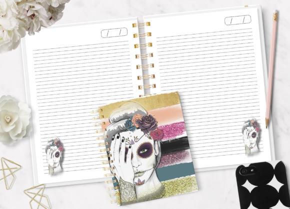 Print on Demand: Striped Notebook Ready to Print Graphic Print Templates By Sublima2
