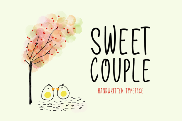 Print on Demand: Sweet Couple Display Font By FontEden