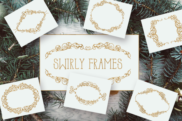 Swirly Frames Graphic Crafts By Craft-N-Cuts