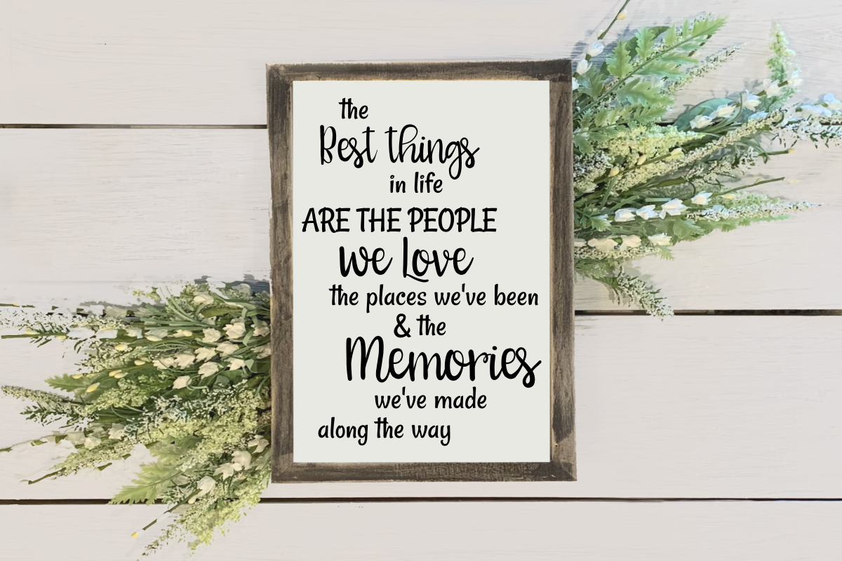 Download Free The Best Things Graphic By Amy Anderson Designs Creative Fabrica for Cricut Explore, Silhouette and other cutting machines.