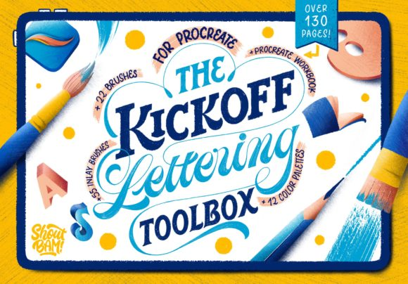 The KickOff Lettering Toolbox Graphic Brushes By Shoutbam