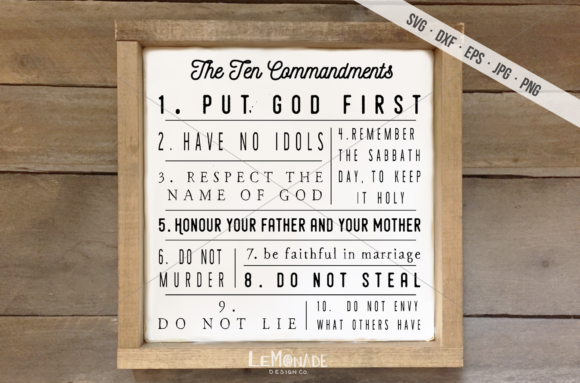 Download Free The Ten Commandments Graphic By Lemonade Design Co Creative for Cricut Explore, Silhouette and other cutting machines.