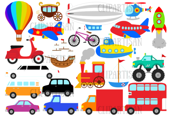 Transportation Graphic Illustrations By ClipArtisan - Image 1