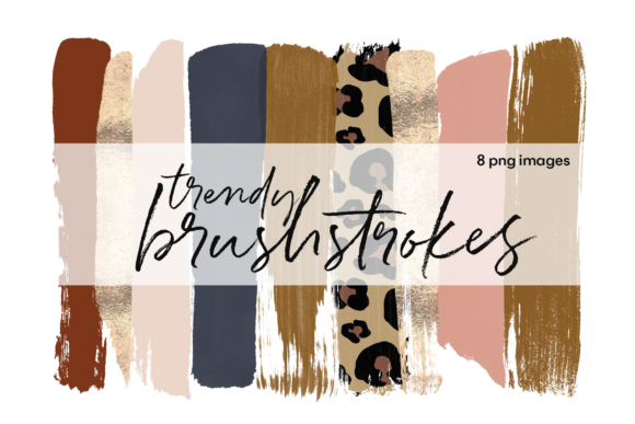 Trendy Brushstrokes Graphic Illustrations By KA Designs