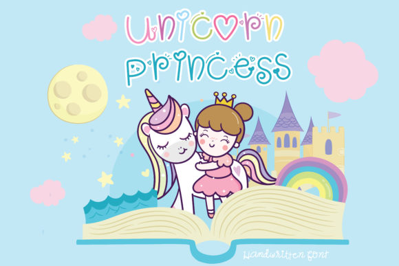 Print on Demand: Unicorn Princess Script & Handwritten Font By vividdiy8