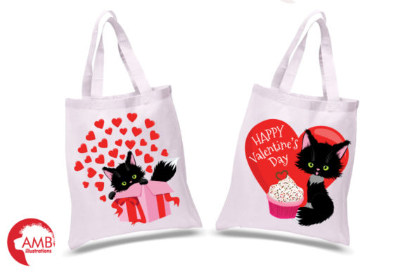 Valentine Cats Clipart AMB-2709 Graphic Illustrations By AMBillustrations - Image 2