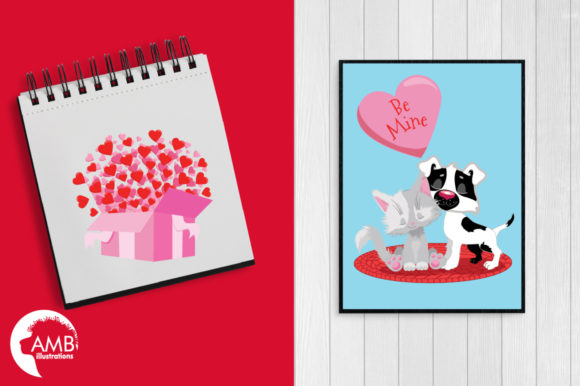 Valentine Cats Clipart AMB-2709 Graphic Illustrations By AMBillustrations - Image 5
