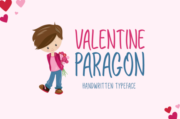 Print on Demand: Valentine Paragon Display Font By Instagram Fonts