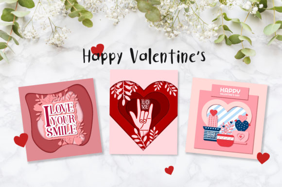 Valentine S Day Cute Cards Graphic By Jann Creative Fabrica