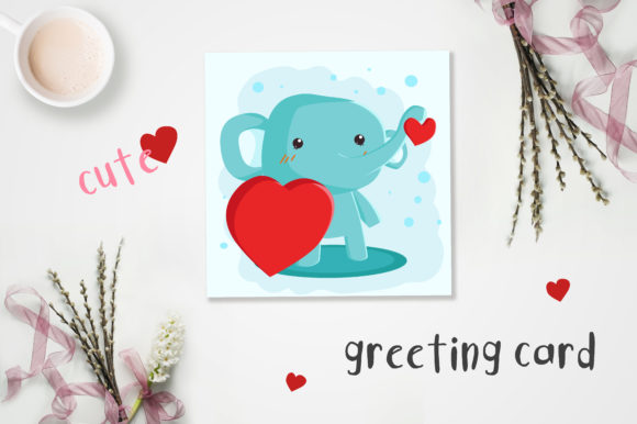 Print on Demand: Valentine's Day Cute Cards Graphic Illustrations By jann - Image 2
