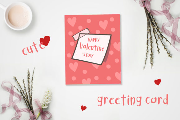 Print on Demand: Valentine's Day Cute Cards Graphic Illustrations By jann - Image 3