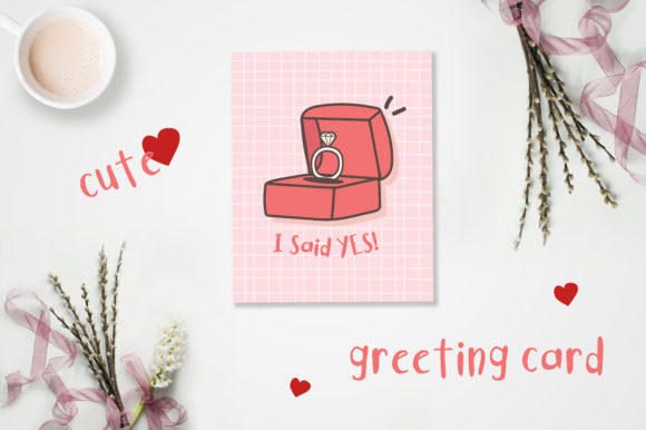 Print on Demand: Valentine's Day Cute Cards Graphic Illustrations By jann - Image 4