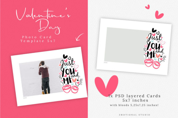 Download Free Valentine S Day Photo Card Template Graphic By 3motional SVG Cut Files