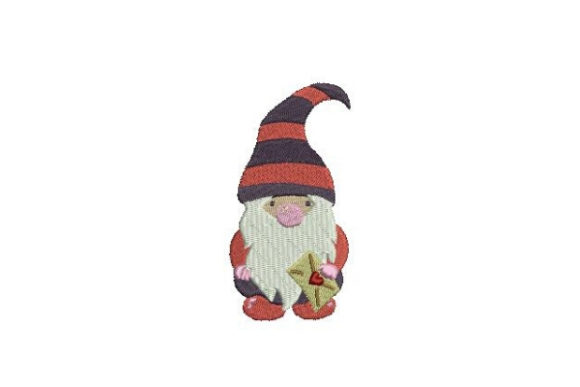 Valentine's Gnome Valentine's Day Embroidery Design By Embroidery Designs - Image 1