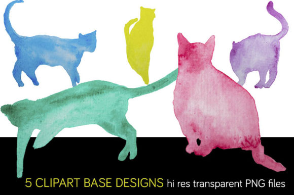 Download Free Watercolor Cats Set Rapports Cliparts Graphic By Milaski for Cricut Explore, Silhouette and other cutting machines.