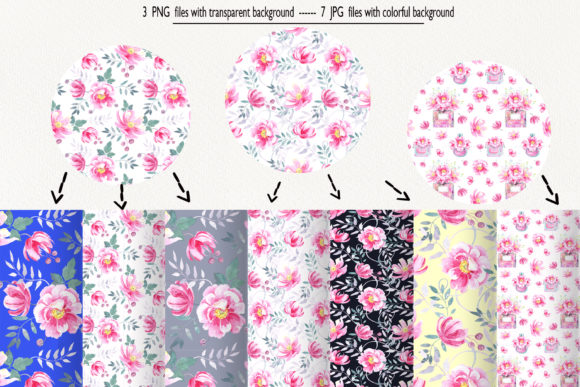 Print on Demand: Watercolor Wild Roses Clip Art Graphic Illustrations By evgenia_art_art - Image 10