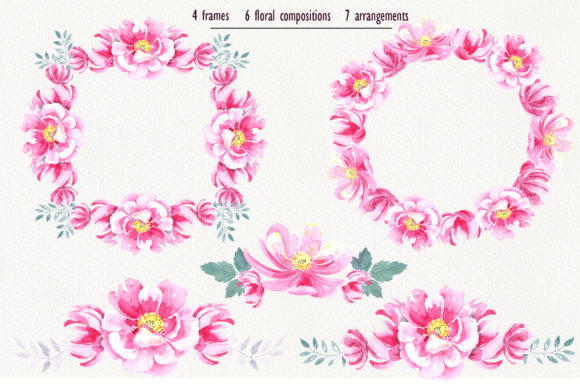 Print on Demand: Watercolor Wild Roses Clip Art Graphic Illustrations By evgenia_art_art - Image 3