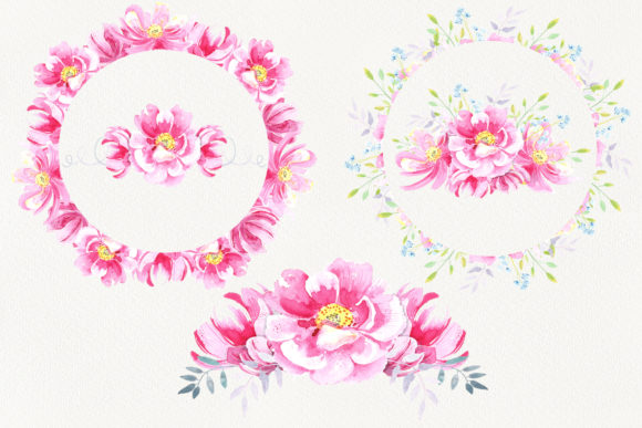 Print on Demand: Watercolor Wild Roses Clip Art Graphic Illustrations By evgenia_art_art - Image 4