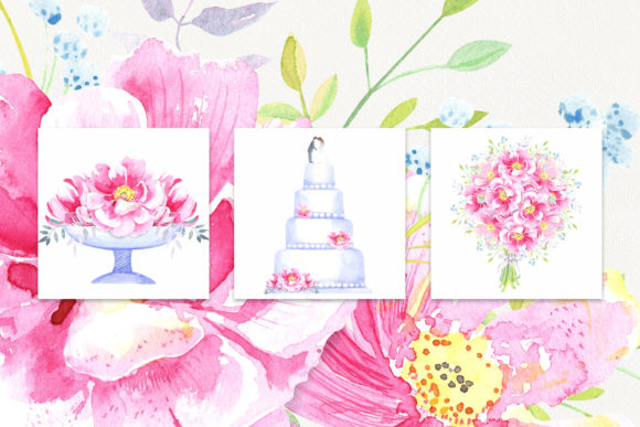 Print on Demand: Watercolor Wild Roses Clip Art Graphic Illustrations By evgenia_art_art - Image 5