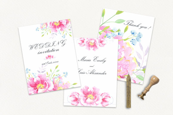 Print on Demand: Watercolor Wild Roses Clip Art Graphic Illustrations By evgenia_art_art - Image 7