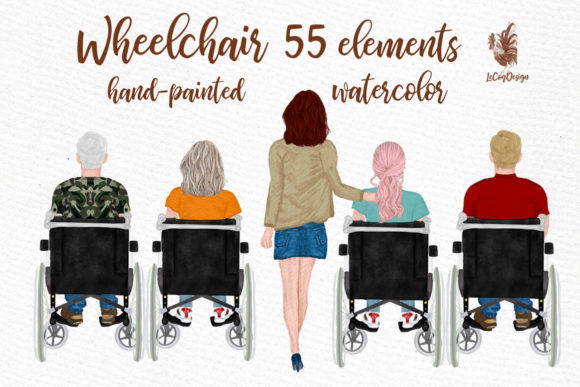 Wheelchair Clipart Disability Graphic Illustrations By LeCoqDesign