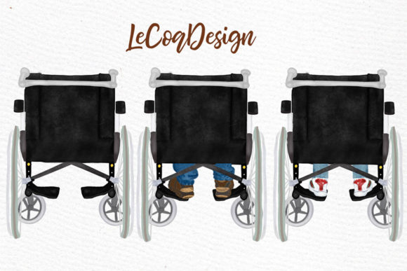 Wheelchair Clipart Disability Graphic Illustrations By LeCoqDesign - Image 4
