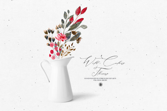 Print on Demand: Wild Colors Flowers Graphic Illustrations By webvilla
