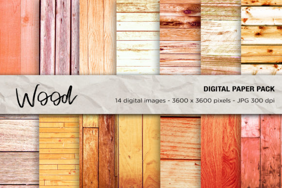 Wood Digital Papers Gráfico Texturas Por mertakdere19