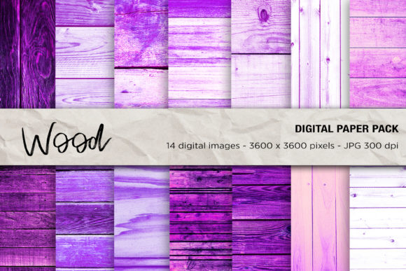 Wood Digital Papers, Purple Wood Graphic Textures By mertakdere19