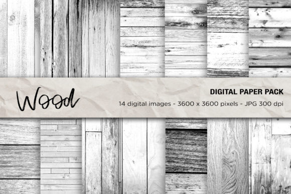 Wood Digital Papers, White Wood Textures Graphic Textures By mertakdere19 - Image 1