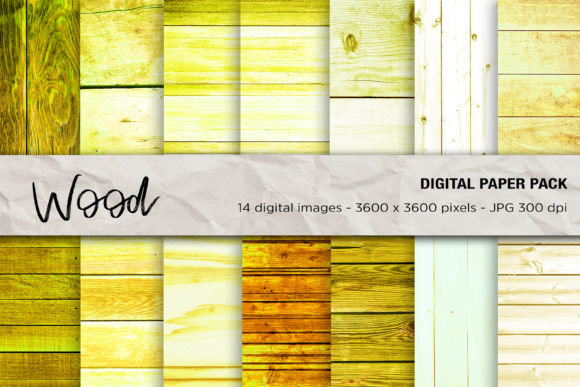 Wood Digital Papers, Wood Background Gráfico Texturas Por mertakdere19