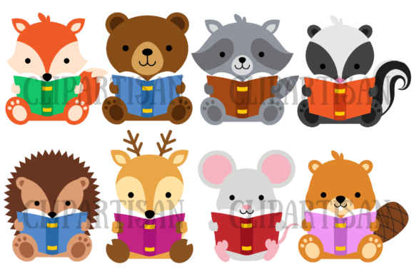 Woodland Animals Graphic Illustrations By ClipArtisan
