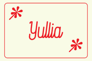 Print on Demand: Yullia Script & Handwritten Font By Amru