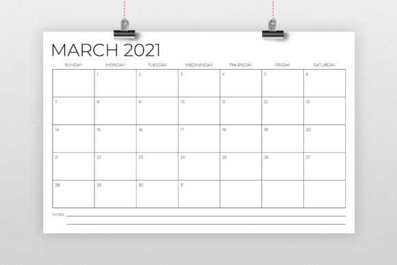 Download Free 11 X 17 Inch Modern 2021 Calendar Graphic By Running With Foxes for Cricut Explore, Silhouette and other cutting machines.
