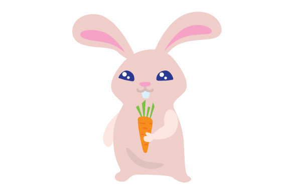 Cute Bunny Holding Carrot Easter Craft Cut File By Creative Fabrica Crafts