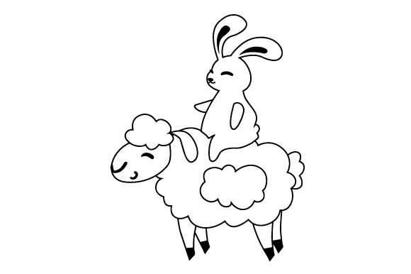 Download Free Bunny Riding A Sheep Svg Cut File By Creative Fabrica Crafts for Cricut Explore, Silhouette and other cutting machines.