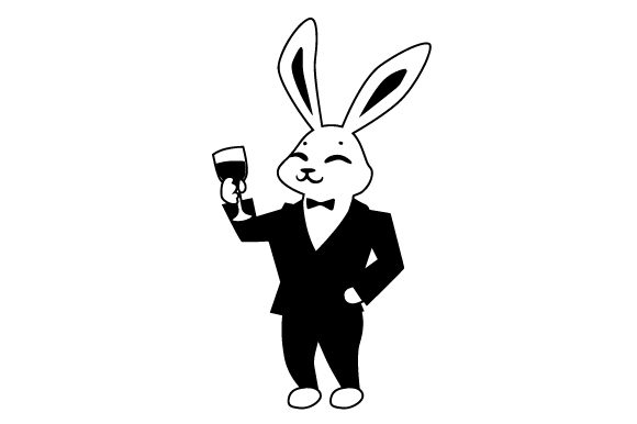 Download Free Bunny In Formal Attire Svg Cut File By Creative Fabrica Crafts for Cricut Explore, Silhouette and other cutting machines.
