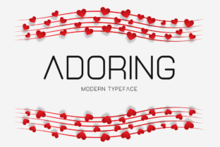 Print on Demand: Adoring Display Font By Instagram Fonts 1
