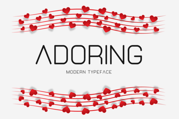 Print on Demand: Adoring Display Font By Instagram Fonts