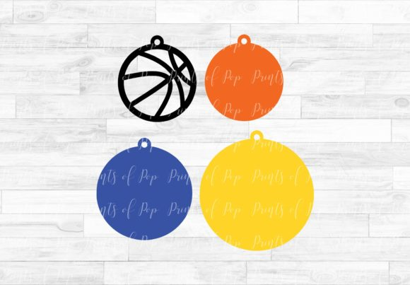 Download Free Basketball Earrings Graphic By Printsofpop Creative Fabrica for Cricut Explore, Silhouette and other cutting machines.