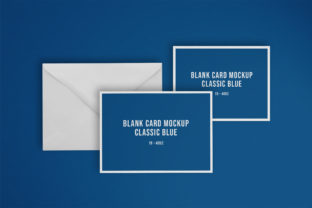 Blank Card with Envelope Mockup Graphic Product Mockups By nopxcreative
