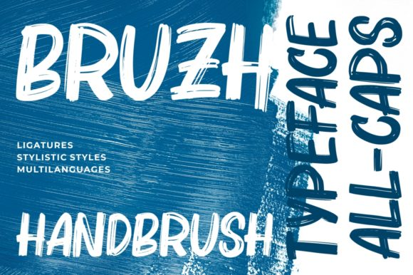 Print on Demand: Bruzh Display Font By Garisman Studio