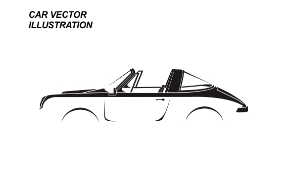 Download Free Car Vector Illustration Graphic By Therintproject Creative Fabrica for Cricut Explore, Silhouette and other cutting machines.