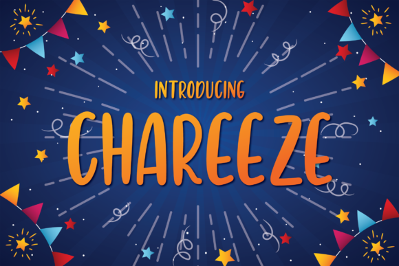 Print on Demand: Chareeze Display Font By A Christie