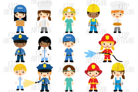 Community Helpers Clipart Professions Graphic Illustrations By ClipArtisan