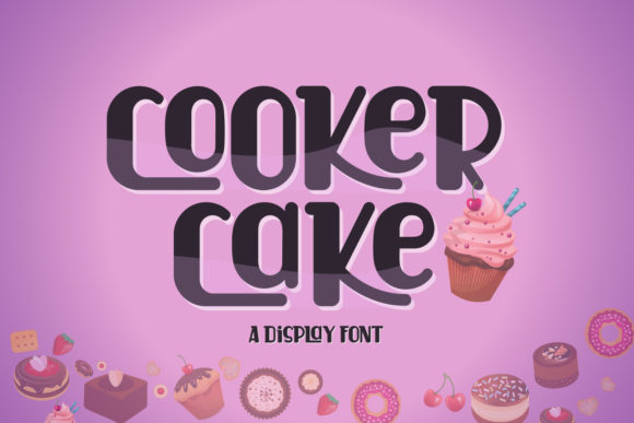 Download Free Cooker Cake Font By Sabrcreative Creative Fabrica for Cricut Explore, Silhouette and other cutting machines.