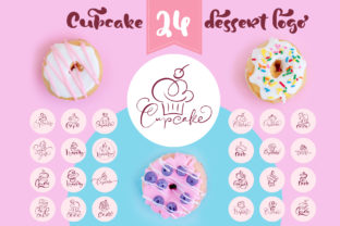 Cupcake Dessert Logo Graphic Logos By Happy Letters